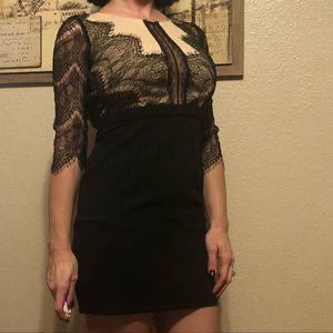 {Charlotte Russe} lace classy fitted mini dress S